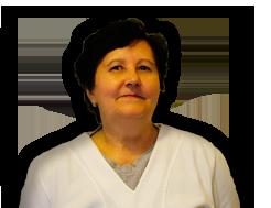 Magdika, Nagy Lászlóné, a Kamilla Gyógyszertár asszisztense